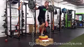 Chain Step Ups + Plyo Jumps