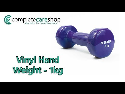 1kg Vinyl Hand Weight Demo