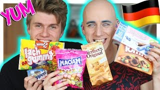 Gay Brits Trying German Candy & Snacks (ft.Stephan Jonas) | Roly