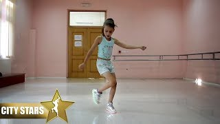 8 Years old Girl Dance Shuffle ( City Stars )