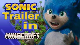 Sonic The Movie Trailer In Minecraft