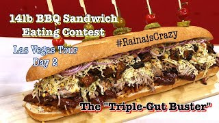"12lb ""Triple Gut-Buster"" Sandwich Eating Contest 