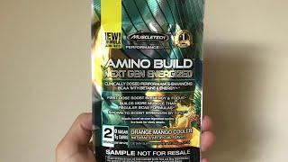 MuscleTech Amino Build Next Gen Energized Orange Mango Cooler Flavour Review   JS Fitness