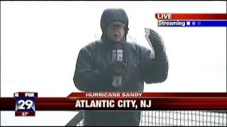 SANDY.....Lights, Sheets Of Glass Falling From Atlantic City Casinos