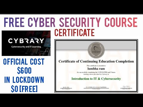 Cyber Security Full Course | Cyber Security Certificate | Free Cyber ...
