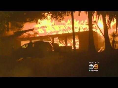 Thomas Fire Still Raging, Threatening Homes
