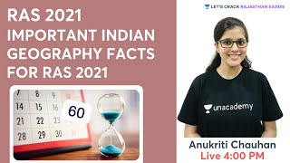 Important Indian Geography Facts For RAS 2021   RAS 2021   Anukriti Chauhan