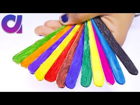 10 Cutest and easy Popsicle Stick Craft ideas for kids | Artkala 198
