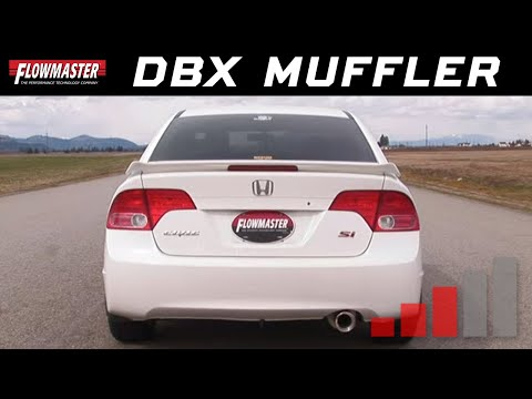 2007 Honda Civic Si with Flowmaster dBX Muffler