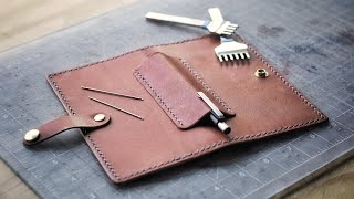 Crafting A Unique Leather Checkbook (FREE PATTERN!)