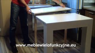 Meble wielofunkcyjne Stolik NiNa, stolik rozkładany, komoda