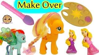 My Little Pony Applejack Make Over with Disney Little Kingdom Rapunzel Hair Color Gel Set