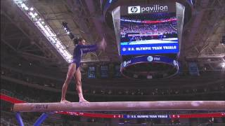 Gabby Douglas Routines From The 2012 Olympic Gymnastics Trials