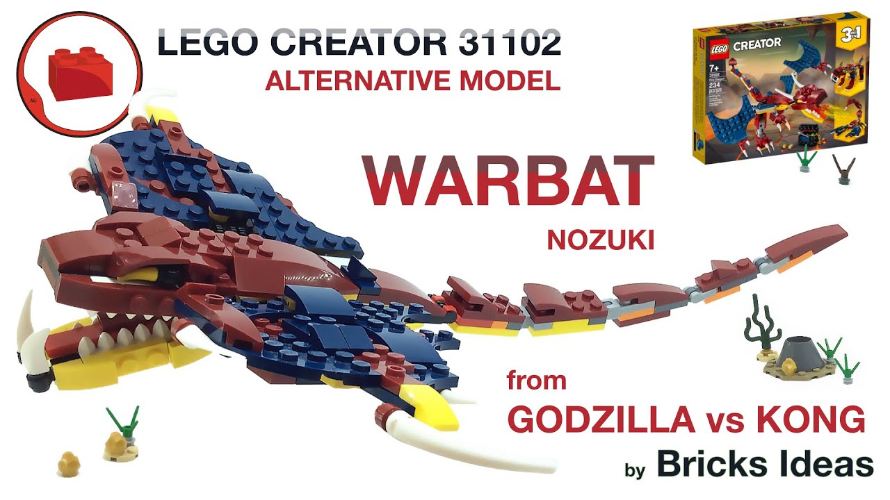 Lego Warbat оr Nozuki Monster MOC - Godzilla vs Kong - Lego Creator 31102 alternative build tutorial