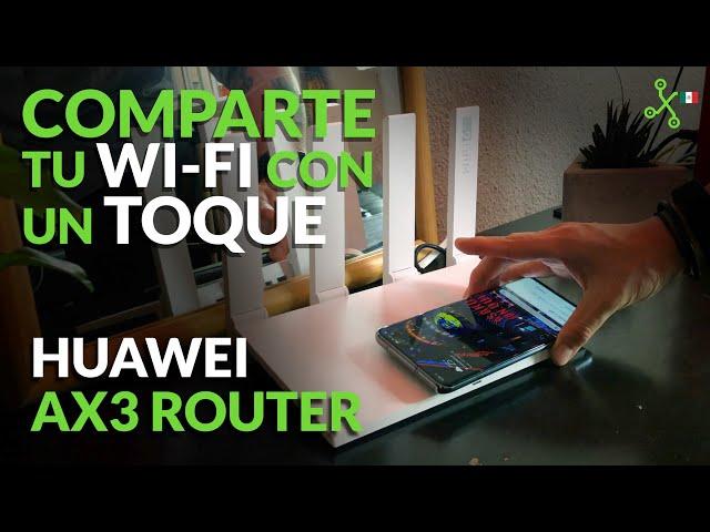 Huawei AX3, configuración y prueba de velocidad real del ROUTER con NFC de HUAWEI