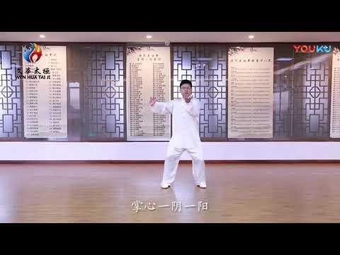 太极拳八法五步的分解教学视频(旷文华示范)