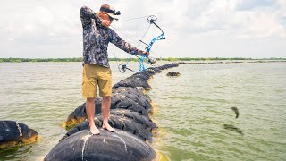 Bowfishing The TIRE ISLAND!!