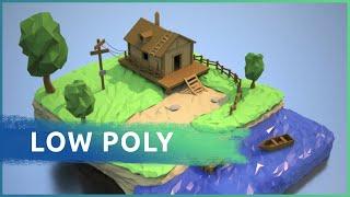 Создаем  Low Poly домик у озера в 3ds Max и Arnold