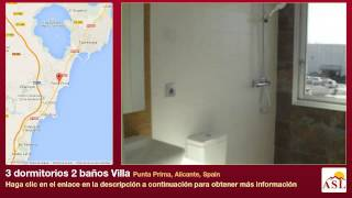 preview picture of video '3 dormitorios 2 baños Villa se Vende en Punta Prima, Alicante, Spain'