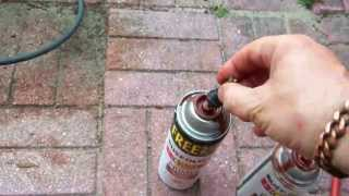 How to unclog Paint Spray Cans - both types