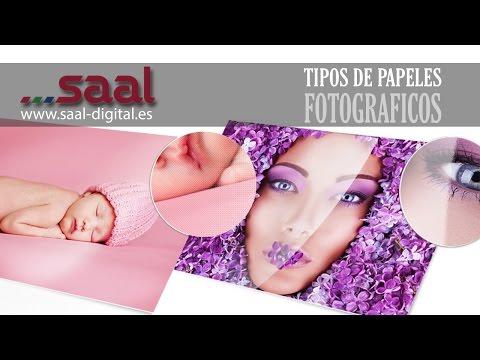 Tipos de Papeles Fotográficos; Brillo, Mate y Seda. Fuji, Kodak y Hanemühle. Saal Digital España