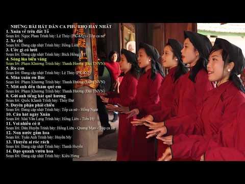 Những bài hát hay nhất của dân ca Phú Thọ