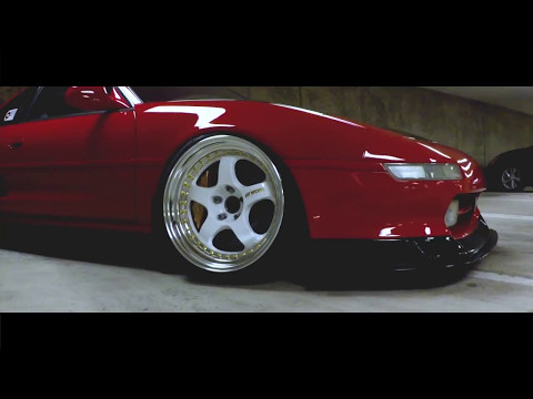 Johne's Red Toyota MR2 on White Work Meister Wheels