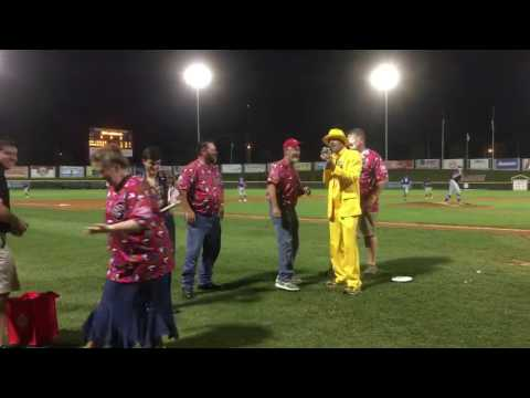 GSM Services celebrated 90 years of service and enjoyed a night of fun and entertainment with the Gastonia Grizzlies Baseball team. One of the events -