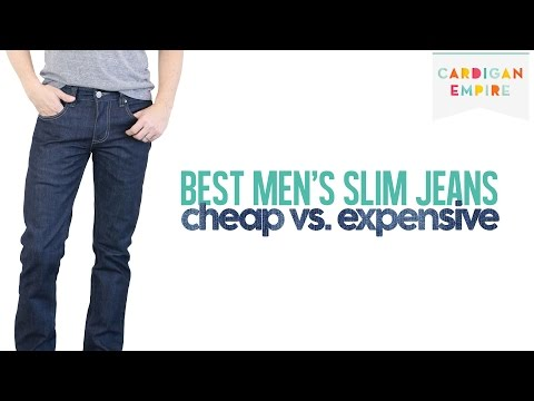 The Best Four Slim Cut Jeans for Men: Cheap vs. Expensive