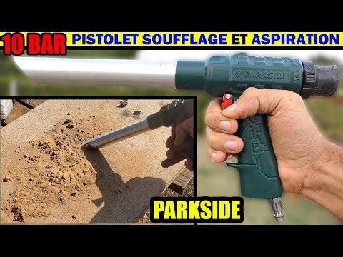 Parkside Pistolet De Soufflage Et D Aspiration Pneumatique