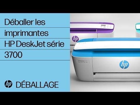 Déballer les imprimantes HP DeskJet série 3700
