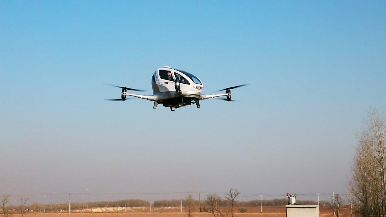 maxresdefault - Китайские разработчики испытали пассажирское аэротакси