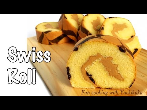 Video RESEP: Cara Membuat Bolu Gulung Ekonomis * Swiss Roll with Pattern