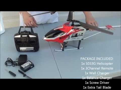 OPEN BOX REVIEW! Syma S033G Co-axial RC Electric Helicopter From xHobbyStore.com