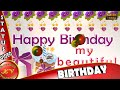 Happy Birthday Wishes,Whatsapp Video,Greetings,Animation,Sister Quotes