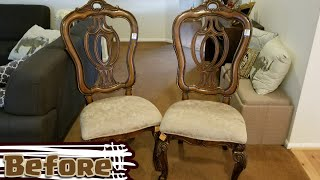 Thrifty Makeover! | Upholstering Old Dining Chairs (Full Ver.)