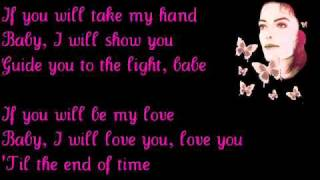 Michael Jackson - Butterflies. (Lyrics).
