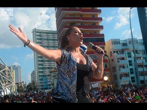Olga Tañón emocionó a Cuba