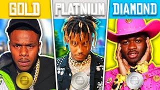 CERTIFIED GOLD RAP SONGS vs CERTIFIED PLATINUM RAP SONGS vs CERTIFIED DIAMOND RAP SONGS