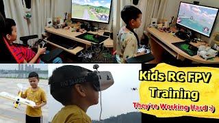 Kids RC FPV Flight Training and Real life RC FPV Flying Progress