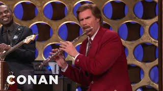 "Ron Burgundy's ""Anchorman"" Announcement   CONAN on TBS"