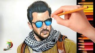 Drawing Salman Khan   Tiger Zinda Hai   Realistic Drawing Of Salman Khan Look In Tiger Zinda Hai