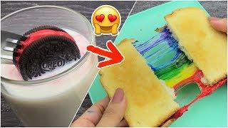 سويت اقتراحات المشتركين لطبخات بألوان الرينبو فقط ! أشكالها رهييبه 😍🌈