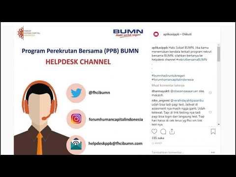 Helpdesk Rekrutmen bersama BUMN 2019