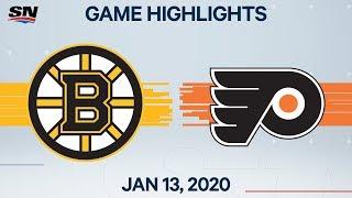 NHL Highlights | Bruins vs. Flyers – Jan. 13, 2020