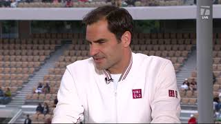 Roger Federer: 2019 Roland Garros First Round Win Tennis Channel Interview