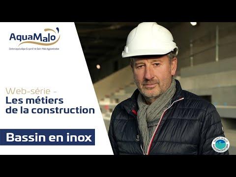 Les métiers de la construction d'AquaMalo : Pose des bassins en inox