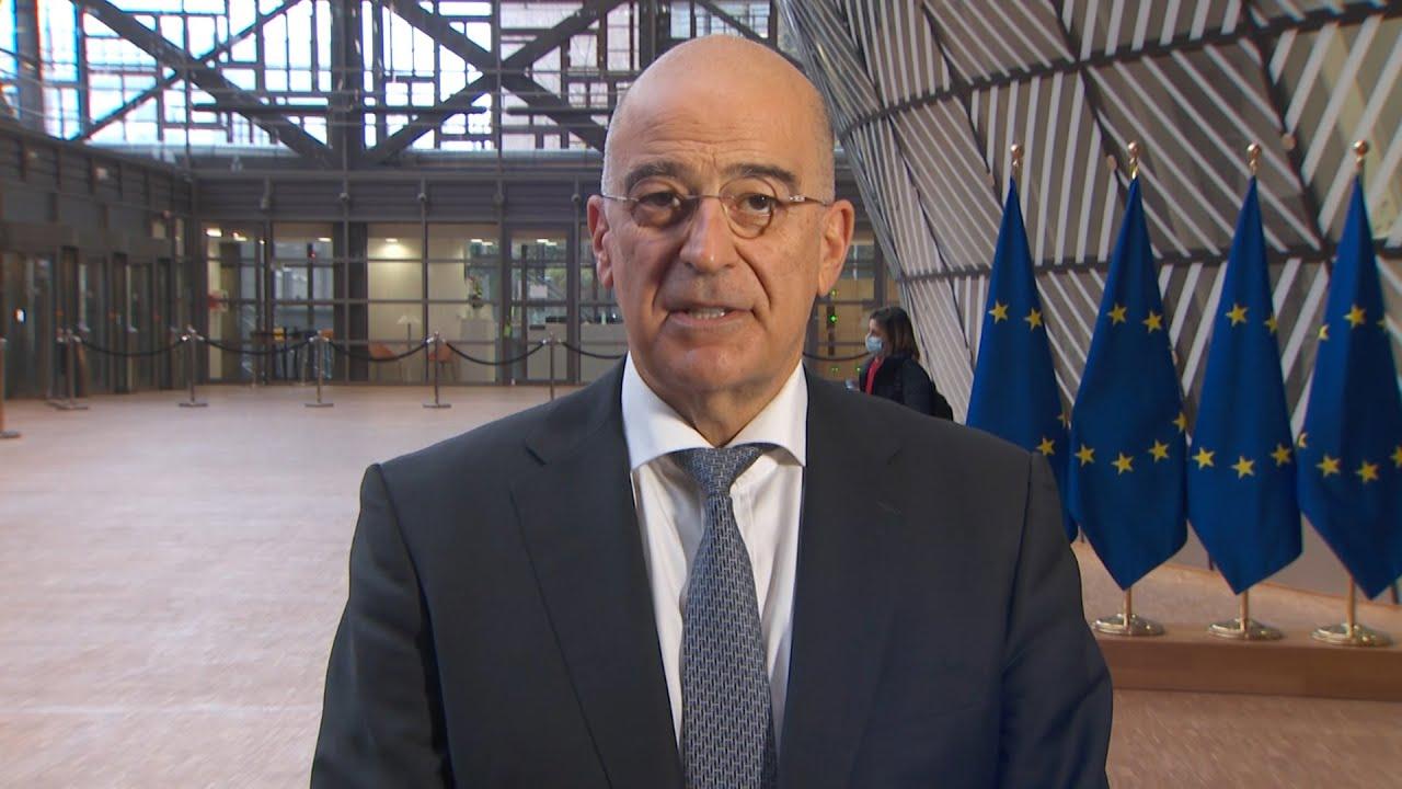 """Βέλγιο- Νίκος Δένδιας: """"Κατέστη σαφές ότι θα πρέπει να υπάρχει αντίδραση απέναντι στην Τουρκία"""""""