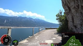 Best Cycling Workout Lake Garda Italy 4K Video Garmin
