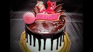 【悪魔ちゃんケーキ】devil's Cake したたるチョコのクリスマスケーキ - ミラーケーキ - Mirror Cake